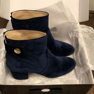 Navy Blue booties, size 10.5 M, worn once